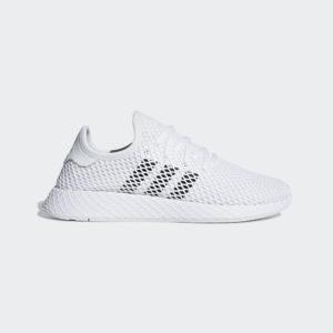Obuv Adidas Originals Deerupt Runner DA8871 biele, pánske sieťovinové tenisky s neprehliadnuteľným mriežkovým lookom, prekvapia svojou ľahkosťou